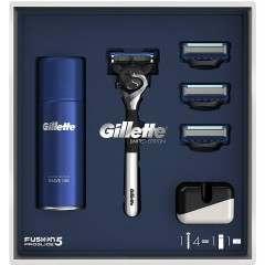 Gillette 81679097 Fusion5 Proglide Chrome Razor Limited Edition Gift Set
