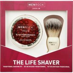 Men Rock MRLSBP The Life Shaver Black Pomegranate Gift Set