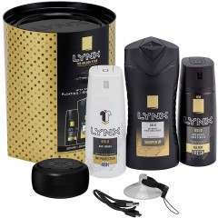 Lynx GSCGLYN209 Gold Trio with Shower Speaker Gift Set