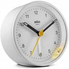 Braun BC12W Classic Anaolgue Round White Alarm Clock