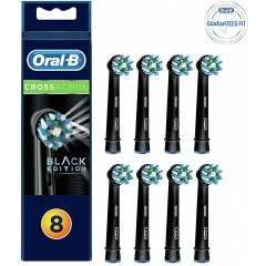 Oral-B EB50-8 CrossAction 8 Pack Black Toothbrush Heads