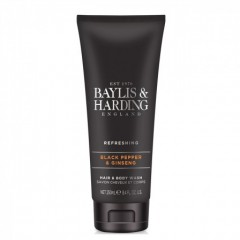 Bayliss & Harding BHBMHBWBP Black Pepper 250ml Hair & Body Wash