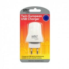 Safe + Sound SA6089 Dual USB Euro Adaptor