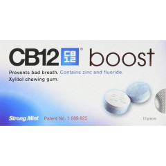 CB12 CTS8240 Mint Boost 10 Piece Chewing Gum