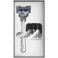 Gillette 81697692 SkinGuard White Razor Plus Magnetic Stand Gift Set