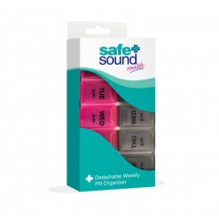 Safe + Sound SA8406 7 Day Detachable Pill Box Set