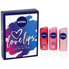 Nivea GSTONIV011 Love Lips 3 Piece Gift Set