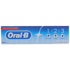 Oral-B 81692220 1-2-3 Salter Power White Toothpaste
