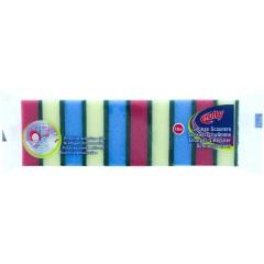 Multy HOMUL014 10 Pack Assorted Scourers Sponge