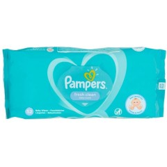 Pampers TOPAM123 Fresh & Clean Pack of 52 Baby Wipes