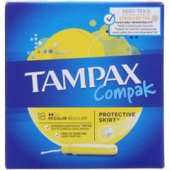 Tampax TOTAM103 Compak Regular 18 Pack Tampons