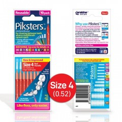 Piksters PK410 Size 4 - 10 Pack Inderdental Brush