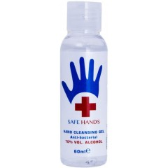 Safe Hands TOSAF005A 60ml 70% Alcohol Hand Sanitiser