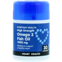 Everyday Health MEEVE005 Omega 3 Fish Oil 1000mg Pack Of 30 Tablets