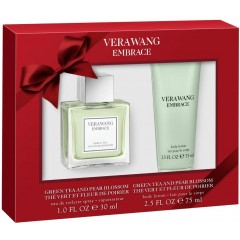 Vera Wang GSFLVER008 Embrace Green Tea & Pear Blossom Gift Set