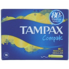 Tampax TOTAM106 Compak Regular 16 Pack Tampons