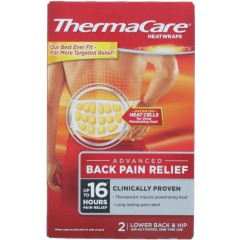 ThermaCare TOTHE015 Lower Back & Hip 2 Pack Heat Wrap