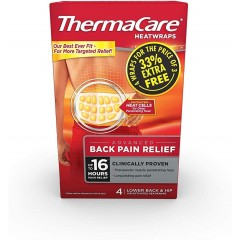 ThermaCare TOTHE021 Lower Back 4 Pack Heat Wrap