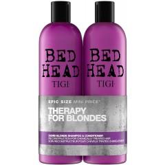 TIGI TOTIG151A Bed Head Dumb Blonde Duo Shampoo & Conditioner Set