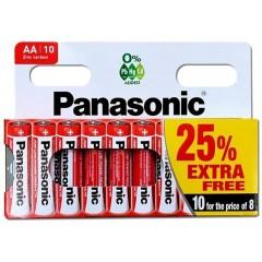 Panasonic HOPAN001A Pack of 10 Zinc AA Batteries