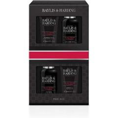 Bayliss & Harding BH20BP4P Men's Black Pepper and Ginseng Travel Essential Gift Set