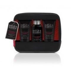 Bayliss & Harding BH20BPBAG Signature Men's Black Pepper & Ginseng Toiletry Bag Gift Set