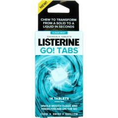 Listerine TOLIS042 Chewable Mouthwash Clean Mints 16 Tablets