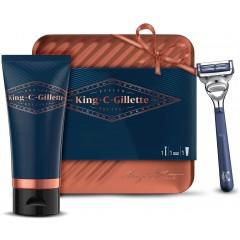King C Gillette 81735355 Neck Razor & Shaving Gel Gift Set