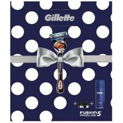 Gillette 81741122 Fusion Razor, Shaving Gel & Stand Gift Set