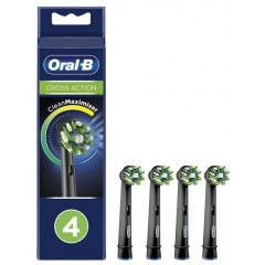 Oral-B EB50-4  CrossAction 4 Pack Black Toothbrush Heads