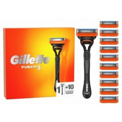 Gillette 81747932 Fusion5 10 Pack Blades with Razor