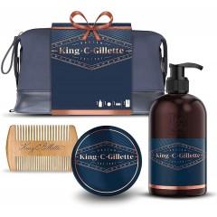 King C Gillette 81759344 Face Wash, Balm & Comb Gift Set