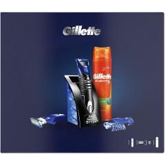 Gillette 81759740 Styler plus Fusion Shaving Gel Gift Set
