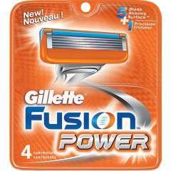 Gillette 81307324 Fusion Power Pack of 4 Blade Pack