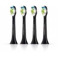 Philips HX6064/33 DiamondClean 4-Pack Standard Black Toothbrush Heads