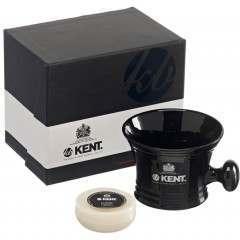 Kent SM BLK Black Porcelain Shaving Mug
