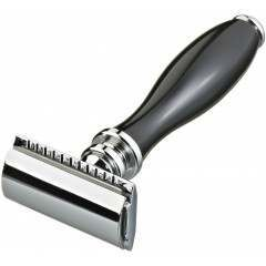 Kent KDSR3 Black Handle Three-Piece Double Edge Safety Razor