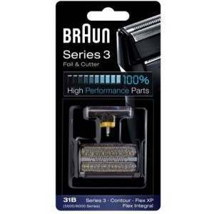 Braun 31B, 5000, 6000 Black Foil & Cutter Pack