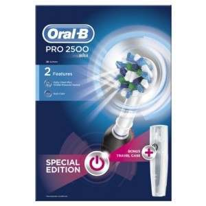 Oral-B D20.513 Pro 2500 Black CrossAction (includes travel case) Electric Toothbrush