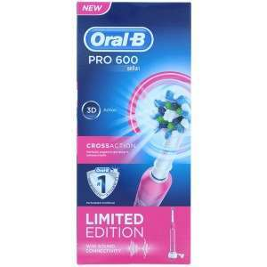 Oral-B D16.513 PRO 600 (PC600) Pink CrossAction Electric Toothbrush