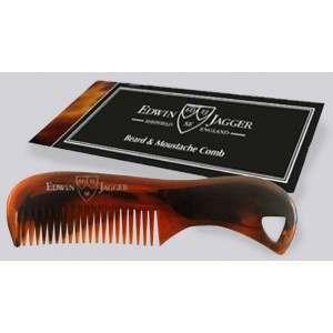 Edwin Jagger PPS-BMC03 Tortoise Shell Beard & Moustache Comb
