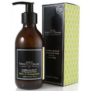Edwin Jagger PPS-BWLP 200ml Lime and Pomegranate Beard & Moustache Wash