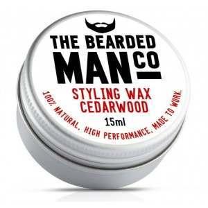 The Bearded Man Co. Cedarwood Styling Moustache Wax