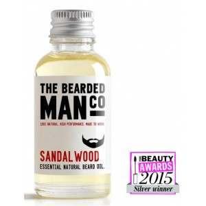 The Bearded Man Co. 30ml Sandalwood Essential Natural Beard Oil