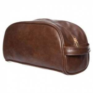 Monza SJA42057 Large Brown Wash Bag