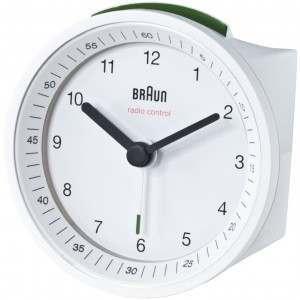 Braun BNC007 White Analogue Alarm Clock