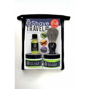 êShave 44117 Verbena Lime TSA Approved Travel Kit