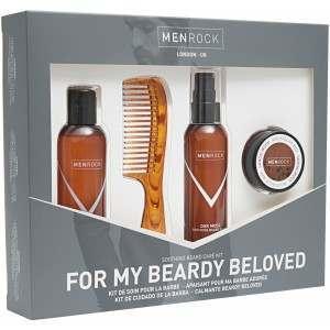 Men Rock MRBBK For Beardy Beloved Beard Care Kit Gift Set