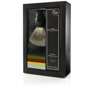 Edwin Jagger PPS-GS214SCAVT Aloe Vera Ebony Brush & Shaving Cream Shaving Start Up Kit